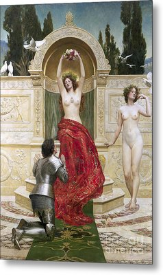 In The Venusburg Metal Print by John Collier