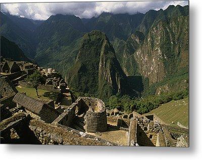 Inca Ruins At Machu Picchu Are Biggest Metal Print by Gordon Wiltsie