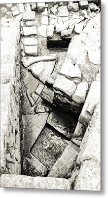 Inca Water System From Above Metal Print