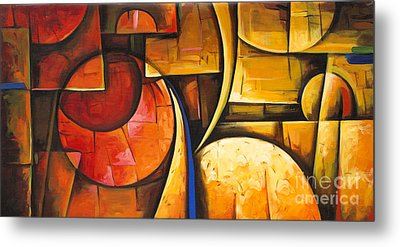 Inception Of Abstract 6 Metal Print by Uma Devi