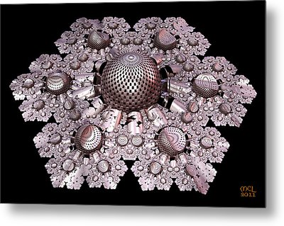 Metal Print featuring the digital art Incompleteness - A Fractal Artifact by Manny Lorenzo