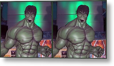 Incredible - Gently Cross Your Eyes And Focus On The Middle Image Metal Print by Brian Wallace