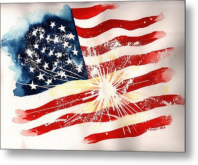 Independence Day Metal Print by Sharon Mick