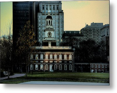 Independence Hall - The Cradle Of Liberty Metal Print by Bill Cannon