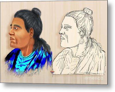 Indian Chiefs Metal Print by Vidka Art