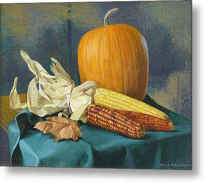 Indian Corn And . . . Metal Print by Glen Heberling