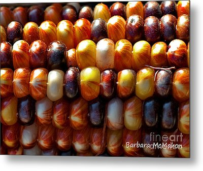 Metal Print featuring the photograph Indian Corn by Barbara McMahon
