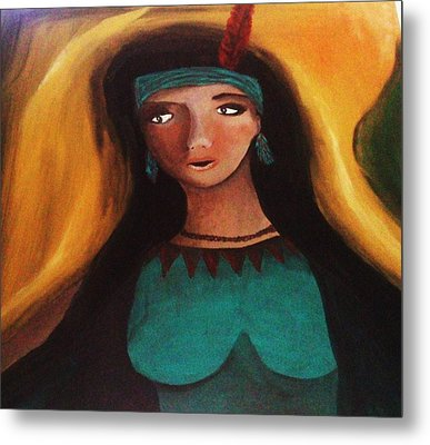 Indian Girlfriend Metal Print by Vickie Meza