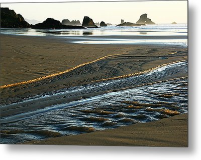 Indian Gold Stream Metal Print by Steven A Bash