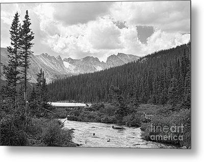 Indian Peaks Summer Day Bw Metal Print by James BO  Insogna