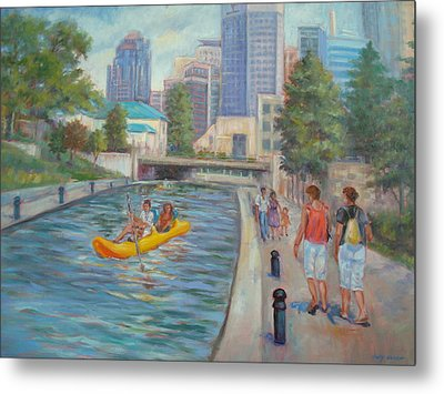 Indianapolis Canal Walk Metal Print by Holly LaDue Ulrich