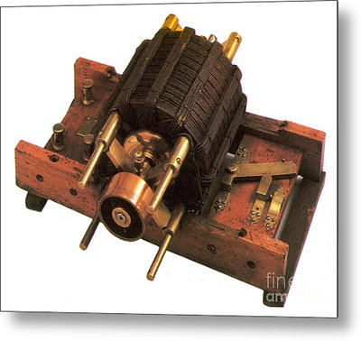 Induction Motor Metal Print by Photo Researchers