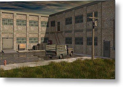 Industrial Courtyard Metal Print by Robin Meade