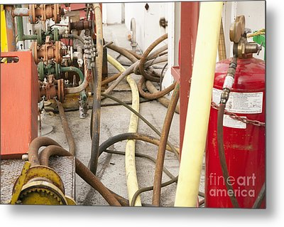 Industrial Interior Metal Print by Shannon Fagan