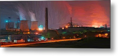 Industrial Lights Metal Print by Steve K