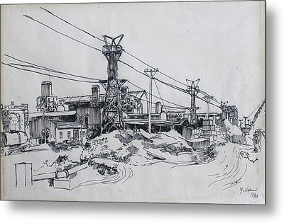 Industrial Site Metal Print by Ylli Haruni