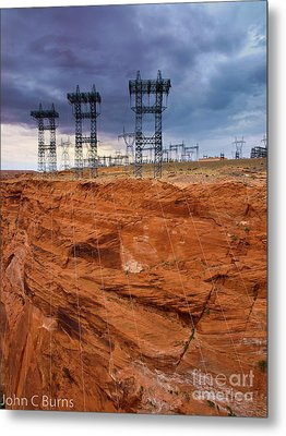 Metal Print featuring the photograph Industry Vs. Nature by John Burns
