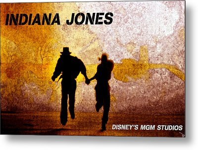 Indy And Marions Escape Metal Print by David Lee Thompson