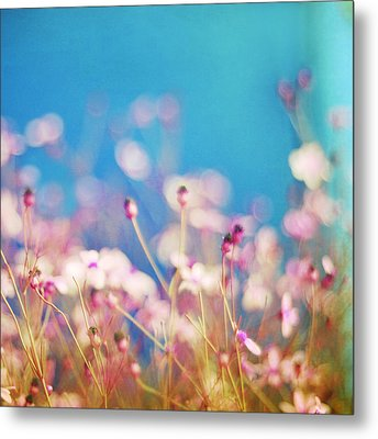 Infatuation In Blue II Metal Print by Amy Tyler