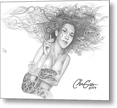 Infectious One Metal Print by Christian Garcia