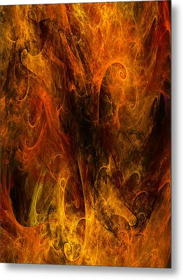 Inferno Metal Print by Niels Walther