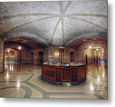 Info Desk Metal Print by Art Whitton