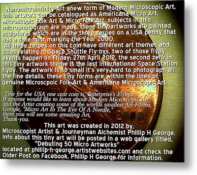 Information Microphotograph Number One  Metal Print by Phillip H George