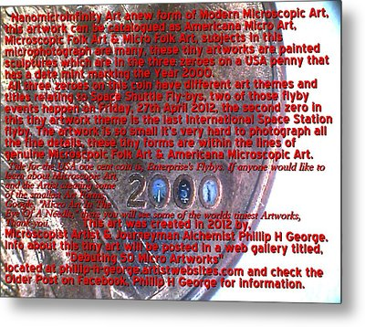 Information Microphotograph Number Two  Metal Print by Phillip H George