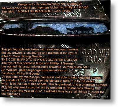 Information Microphotograph  Metal Print by Phillip H George