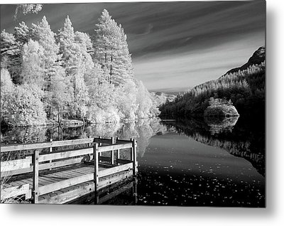 Infrared Glencoe Lochan Metal Print by Billy Currie Photography