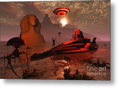 Inhabitants Of The Fabled City Metal Print by Mark Stevenson