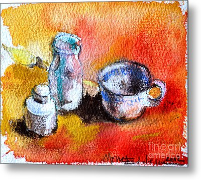 Ink Painting Tools Metal Print