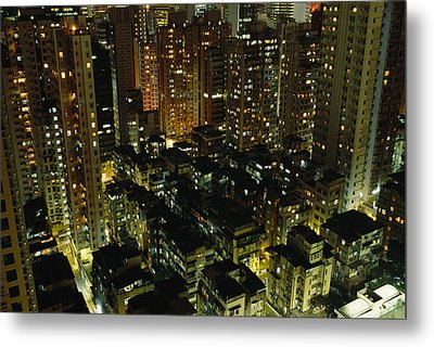 Inland View Of Sheung Wan And Central Metal Print by Justin Guariglia