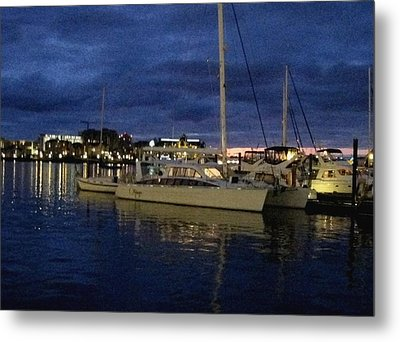 Inner Harbour At Night Metal Print