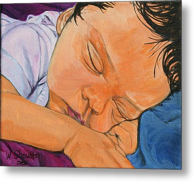 Metal Print featuring the painting Innocence by Wendy Shoults