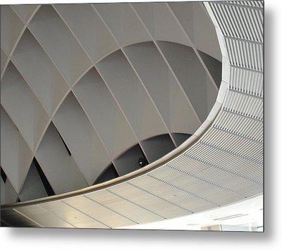 Inside Fuji Building Metal Print by Naxart Studio