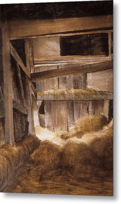 Inside Keeler's Barn Metal Print by Karol Wyckoff