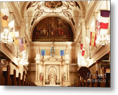 Inside St Louis Cathedral Jackson Square French Quarter New Orleans Diffuse Glow Digital Art Metal Print by Shawn O'Brien