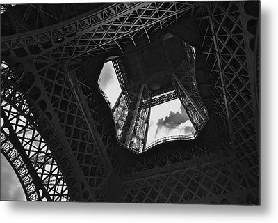 Metal Print featuring the photograph Inside The Eiffel Tower by Eric Tressler