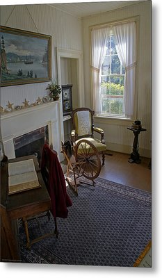 Inside Yaquina Bay Lighthouse Metal Print by Mick Anderson