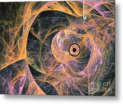 Insolent Staring - Abstract Art Metal Print
