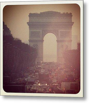 Instagram Photo - L'arc De Triomphe - Paris Metal Print by Marianna Mills