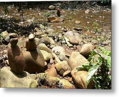 Installation By The River Metal Print by Piety Dsilva