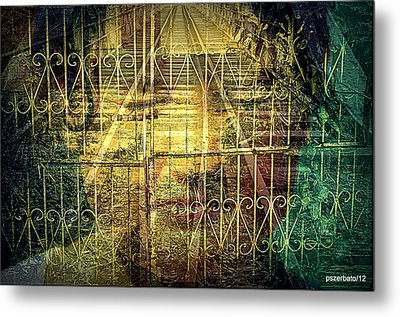 Insurmountable Barriers And Illusory Of Our Minds Metal Print by Paulo Zerbato