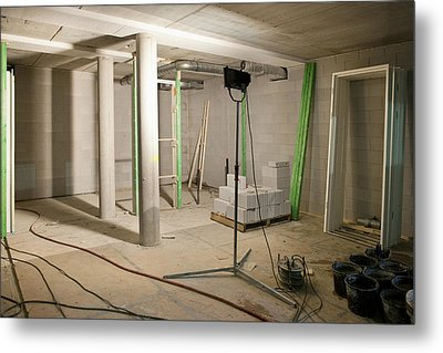 Interior Of An Apartment. A Residential Metal Print by Corepics