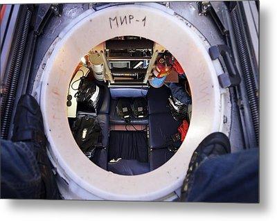 Interior Of Mir-1 Submersible Metal Print by Ria Novosti