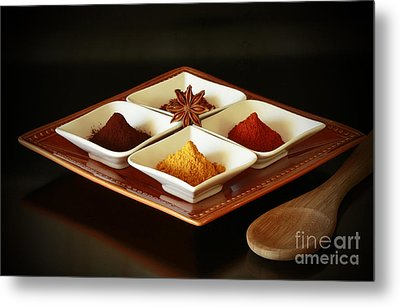 International Kitchen Spices Metal Print by Inspired Nature Photography Fine Art Photography