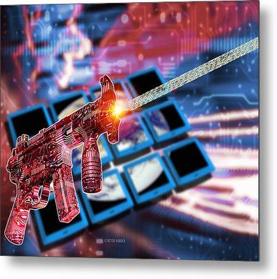 Internet Terrorism Metal Print by Victor Habbick Visions