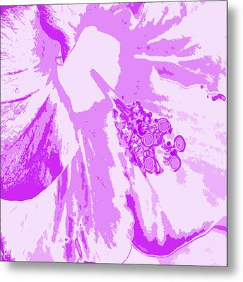 Intimate Purple Metal Print by Keren Shiker