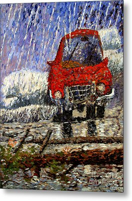 Into The Epochal Storm Metal Print by Charlie Spear